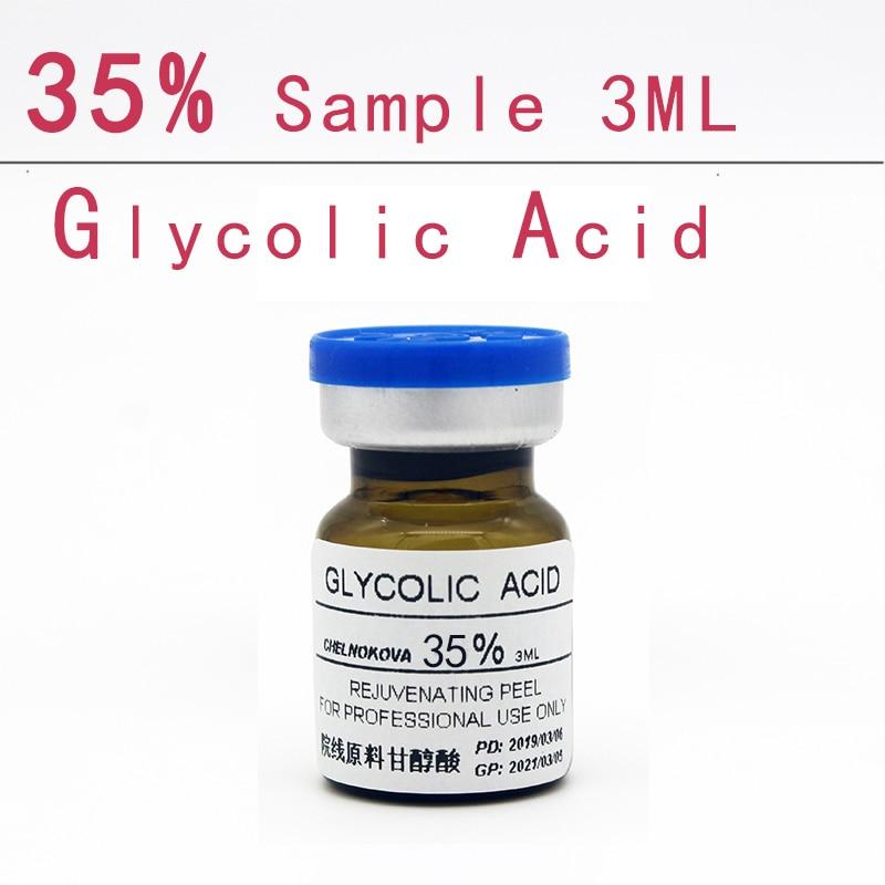 Glycolic Acid 35% Sample 3ml Aha Skin Peeler Acid Peeling Remove Acne Pockmark Peeling Treatment
