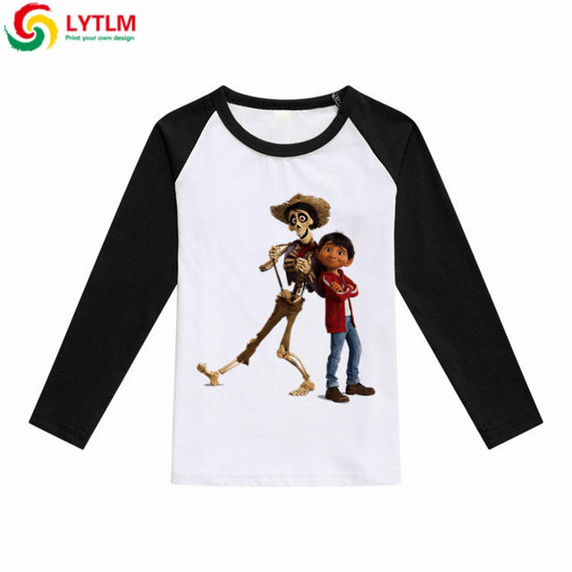 0a4c11d7f6a1 LYTLM Coco Pixar Skull Kids T Shirt Miguel Hector Boys T-shirt Girls Autumn  Tops Tees Cartoon Movie Toddler Baby Boys Clothes