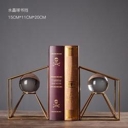 1 пара, современный простой стиль, украшения для книг, хрустальный шар, книжные полки, декор для гостиной, офиса