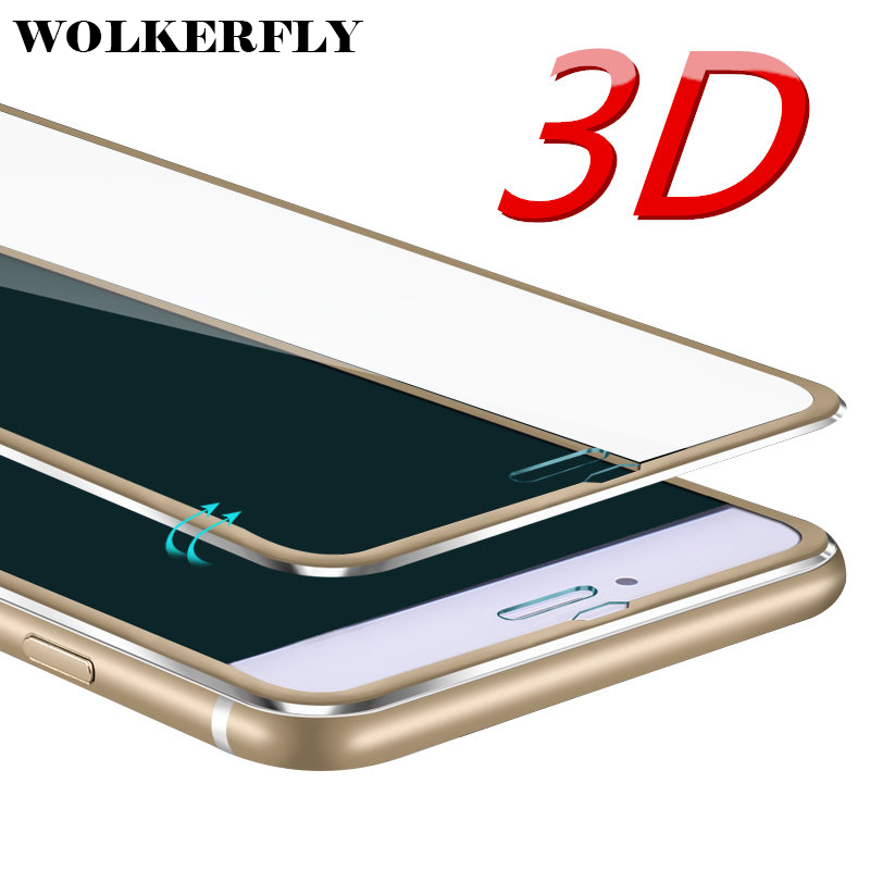 3D Aluminum alloy Tempered glass phone case For iphone 6 cases 6S 7 Plus 5 5S SE Full screen Protector cover for iPhone 7 case