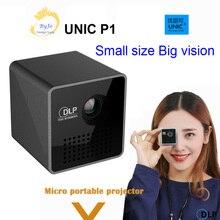 جهاز عرض ضوئي للجيب المنزلي UNIC P1 بطارية بروجيكتور مصغر DLP P1 جهاز عرض صغير led