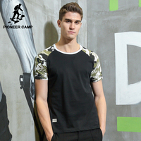 Pioneer Camp New Camouflage T Shirt Men Brand Clothing Fashion Patchwork T Shirt Male Top Quality