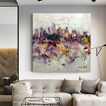 Abstract painting cuadros art Canvas huge size palette knife acrylic texture Wall Pictures for living room Home decor