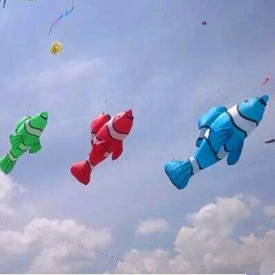 Livraison gratuite 2.5m cerf-volant poisson volant doux cerf-volant ripstop nylon tissu pendentif cerf-volant bobine chaussette à vent cerf-volant usine en plein air jouet pilote - 2
