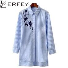 LERFEY женская блузка рубашка с вышивкой женские блузки рубашки на каждый день в полоску для весны и лета ретро стиль верх женская одежда блузка