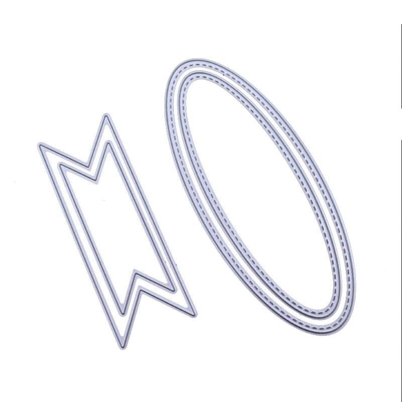 Купить с кэшбэком WYSE Bow tie Die Oval Polygonal Metal Cutting Dies Scrapbooking Craft Die Cut stencil decorative for paper card making