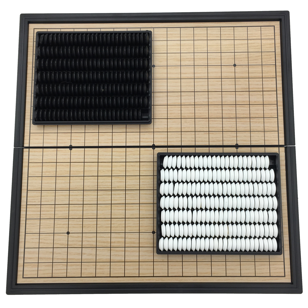 Go Game Set WeiQi Magnetic Pieces Folding Board 19 Lines 361 Pcs/Set Board Size 25 cm x 25 cm Reversi Board Game Gift For Kids foldable magnetic folding shogi set boxed portable japanese chess game sho gi exercise logical thinking 25 25 2 cm