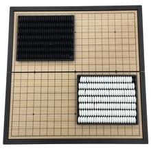 Go игровой набор WeiQi Магнитная части складной доска 19 линии 361 шт./компл. доска Размеры 25 см x 25 см реверси Настольная игра подарок для детей
