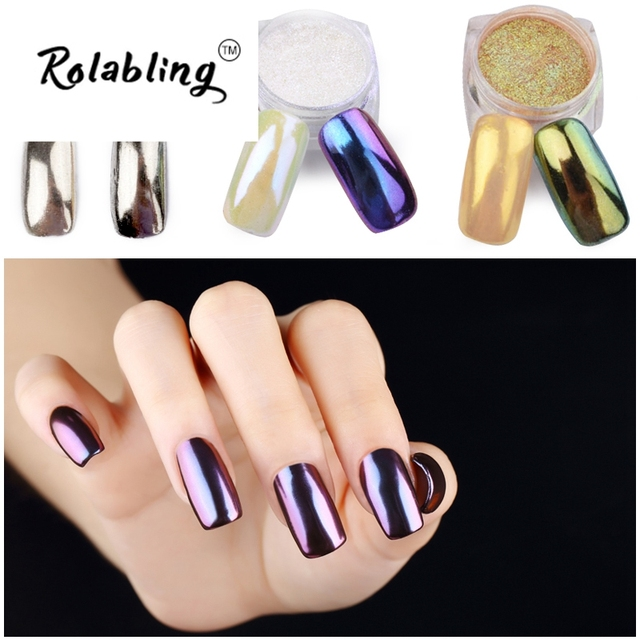 Rolabling New Arrival Shining Mirror Nail Glitter Powder High Shiny Great Quality Hot