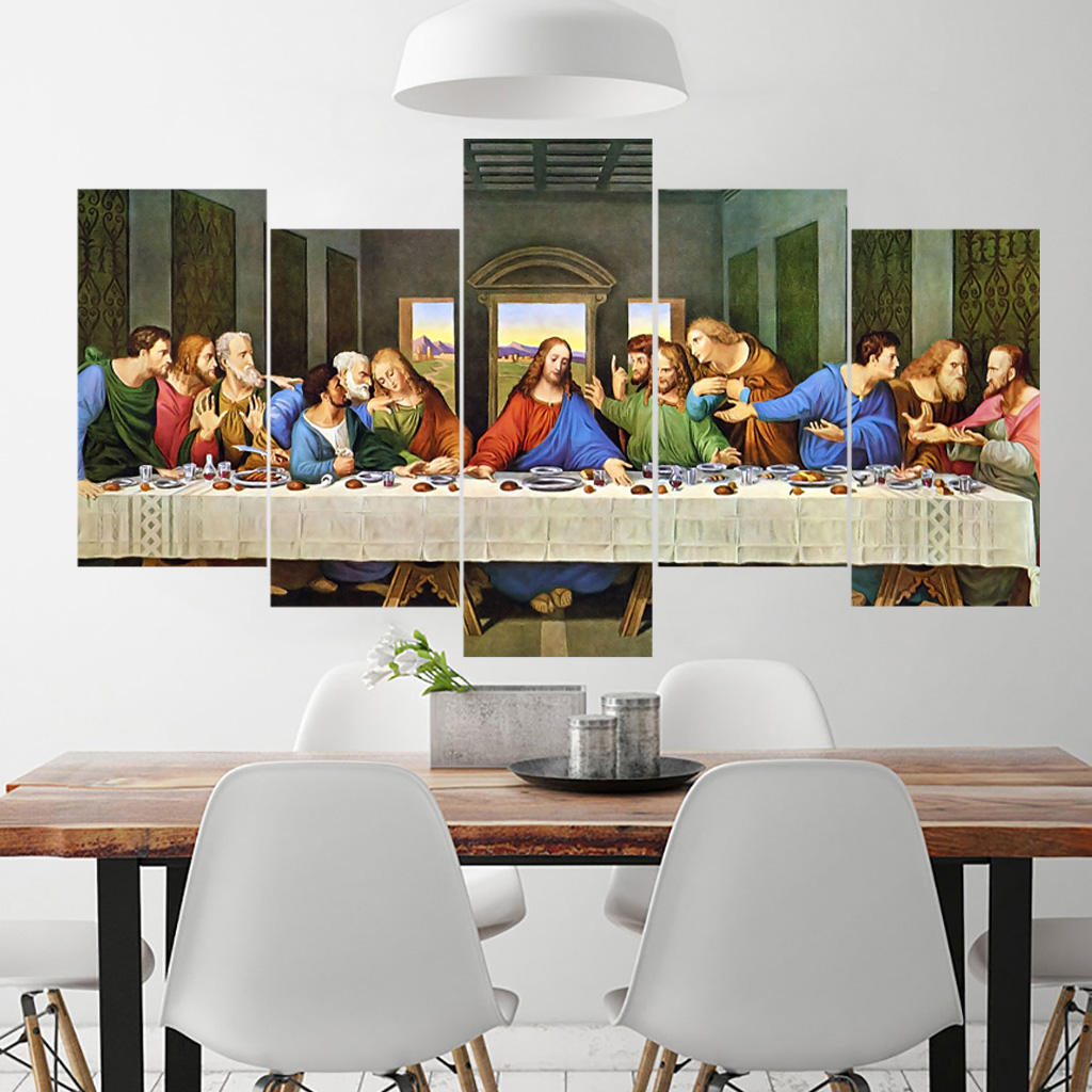 Us 11 44 48 Off Last Supper Oil Painting Wall Art Canvas Printings Prints Giclee Poste Cuadros Pinele In