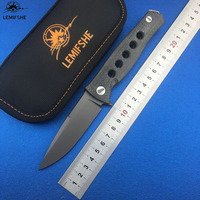LEMIFSHE Russia Dr Death Mayo Flipper Folding Knife D2 TC4 Titanium CF handle Camping Hunting Survival Knives Outdoor EDC Tools|Knives| |  -