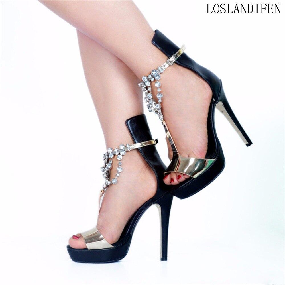 New Femmes Dames Style De Talon sangle Summer Robe Mode Peep Main Bureau J Sandale toe A096 Partie Haute Chaussures Sandales rq4wr