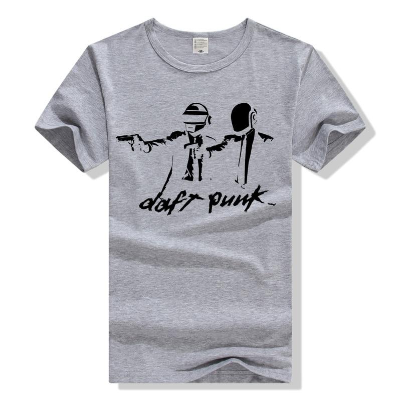 TEEWINING Daft Punk Rock Band T Shirt Men Short Sleeve Cotton T-shirt Tshirt Streatwear Tee