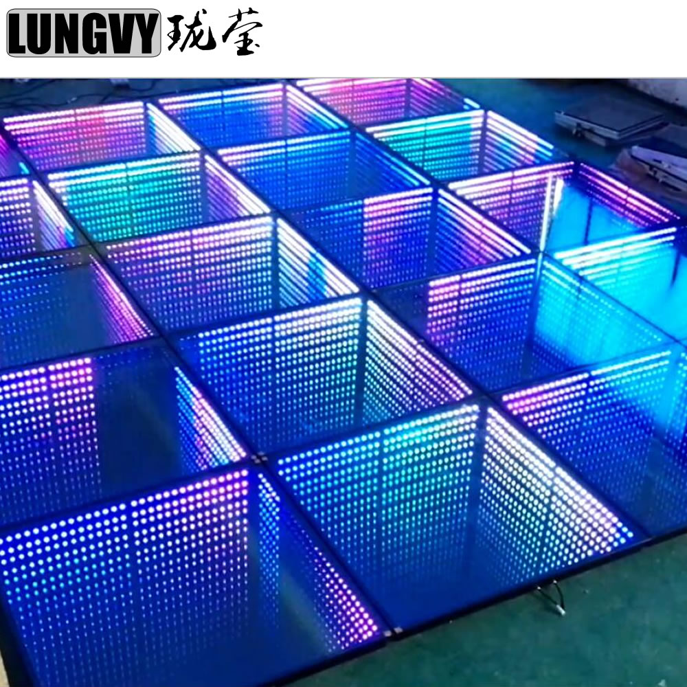 Aliexpress Com Buy 1m 1m Rgb 3d Mirror Tunnel Led Dance