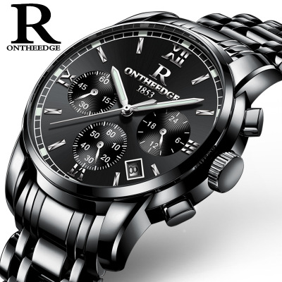 Top Luxury Brand Pilot Mens Chronograph Wrist Watch Waterproof Clock Male Stainless Steel Watch Quartz Military Sport watches megir sport mens watches top brand luxury male leather waterproof chronograph quartz military wrist watch men clock saat 2017