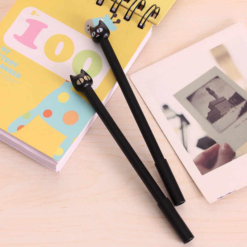 B002 Güney Kore kırtasiye Sevimli Kawaii siyah nötr kalem iğne yaratıcı sevimli siyah kalem 0.5mm Yazma Ofis Okul Malzemeleri