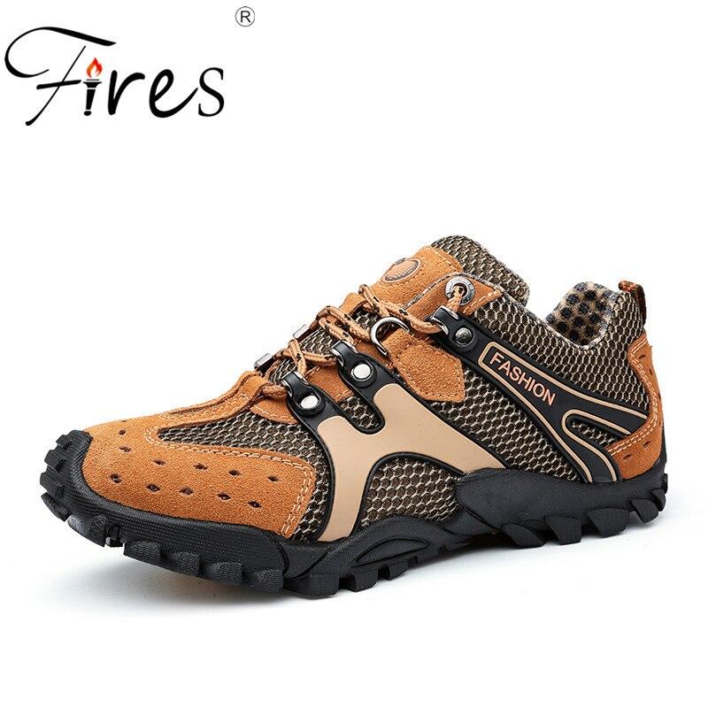 Feuer Männer Wandern Schuhe Bequeme Sport Schuhe Gummisohlen Ourdoor Wanderschuhe Männlichen Atmungsaktive Klettern Schuhe Zapatos Hombre