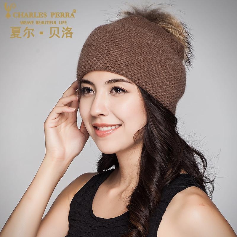 Charles Perra Ženske kape od vunene pletene kapute s velikim - Pribor za odjeću - Foto 2