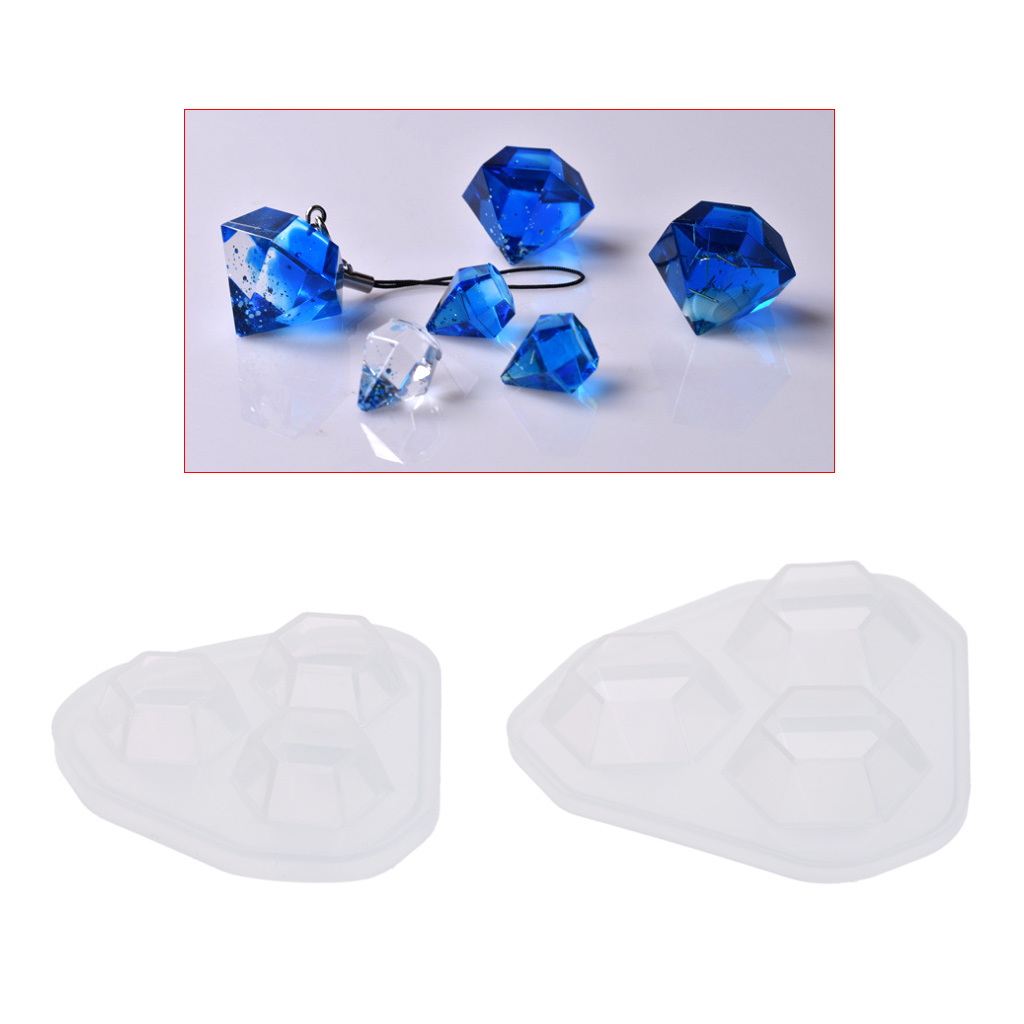 Silicone Mold Diamond Shaped Jewelry DIY Cake Decoration Dessert Handmade Tools