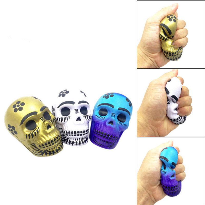 New Squishy Toy Amazing Exquisite Funny Squeeze Galaxy Skull Pu Decompression Toy Slow Rising Anti Stress Reliever Toy