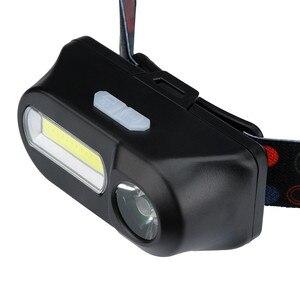 Image 3 - XPE COB LED פנס 6 מצב פנס רצועות פנסי מתכוונן נטענת ראש לפיד להשתמש 18650 סוללה עבור קמפינג