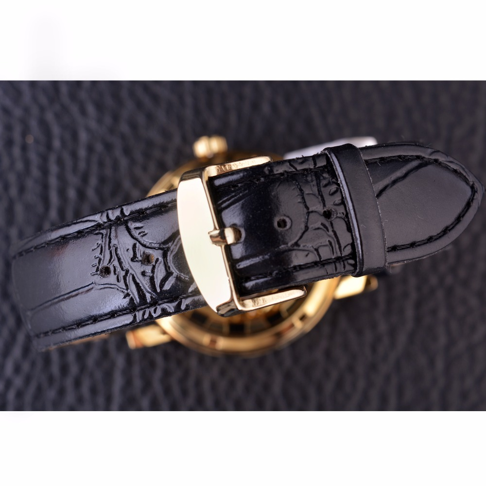 Forsining Chinese Dragon Skeleton Design Transparent Case Gold Watch Mens Watches Top Brand Luxury Mechanical Male Wrist Watch 4