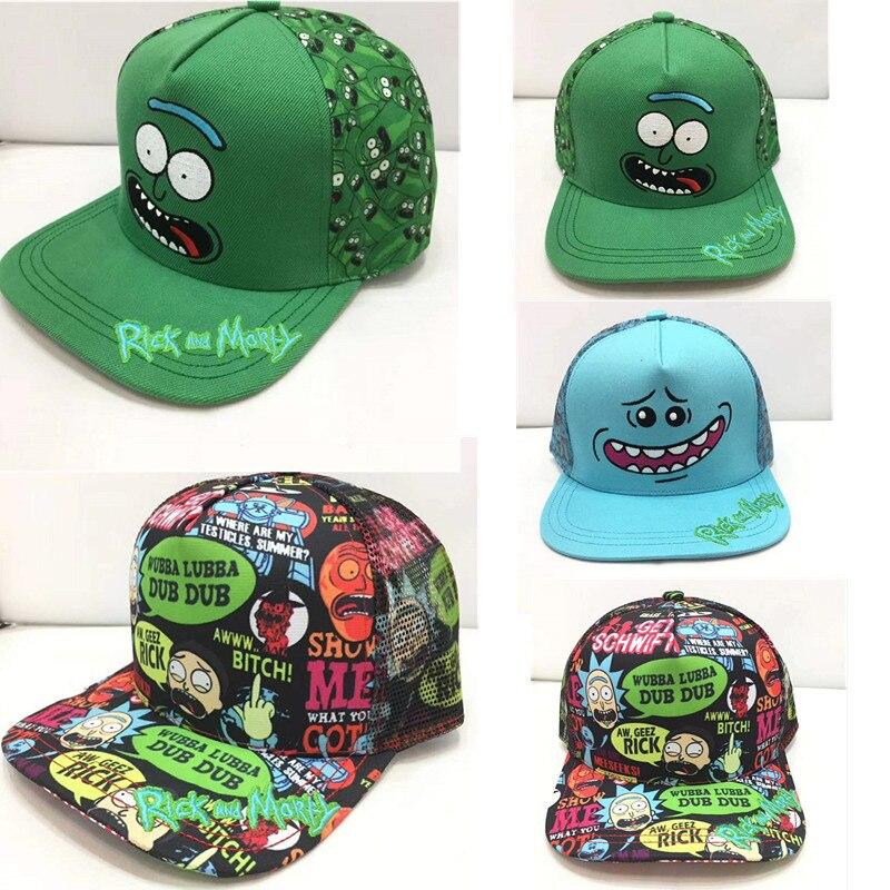 2018 Rick E Morty Personaggio Dei Cartoni Animati Nuovo Cappello Hip Hop Berretto Da Baseball Dei Bambini Del Capretto