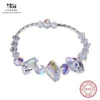 LEKANI Crystals From Swarovski Bracelet 925 Irregular Crystal Sterling Silver Bracelet Simple ladies boutique jewelry gift