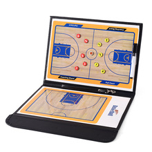 PAIDIAO Basketball Tactical Board Folding Coach PVC Leather Teaching Magnetic Band with Pen