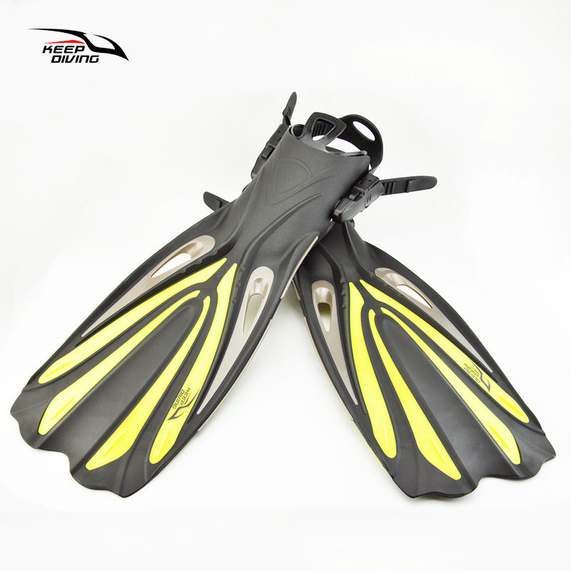 Garder la plongée à talon ouvert plongée sous-marine longues palmes réglables plongée en apnée nageoires de natation spécial pour les bottes de plongée chaussures Monofin Gear - 6