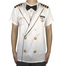 лучшая цена Funny Navy Captain Halloween Costume for Men Cool Men's Halloween Marine Captain Costumes Plus Size
