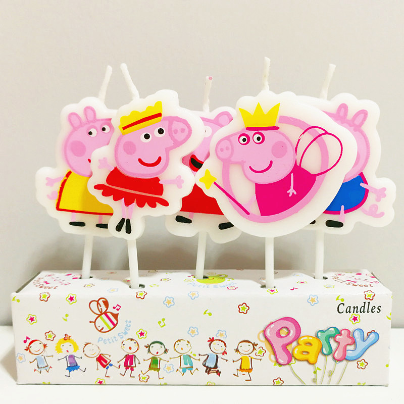 5pcs Lot 18853cm Cute Pink Pig Candles Cakecup Candle Kids Birthday Party Supplies Decoration In Cake Decorating From Home