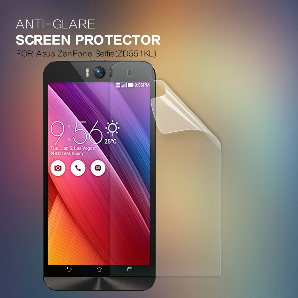 Nillkin Frosted Shield Hardcase For Asus Zenfone Selfie Zd551kl Gold Max Zc550kl Hard Case 2 Pcs Lot Screen Protector Anti Glare Matte