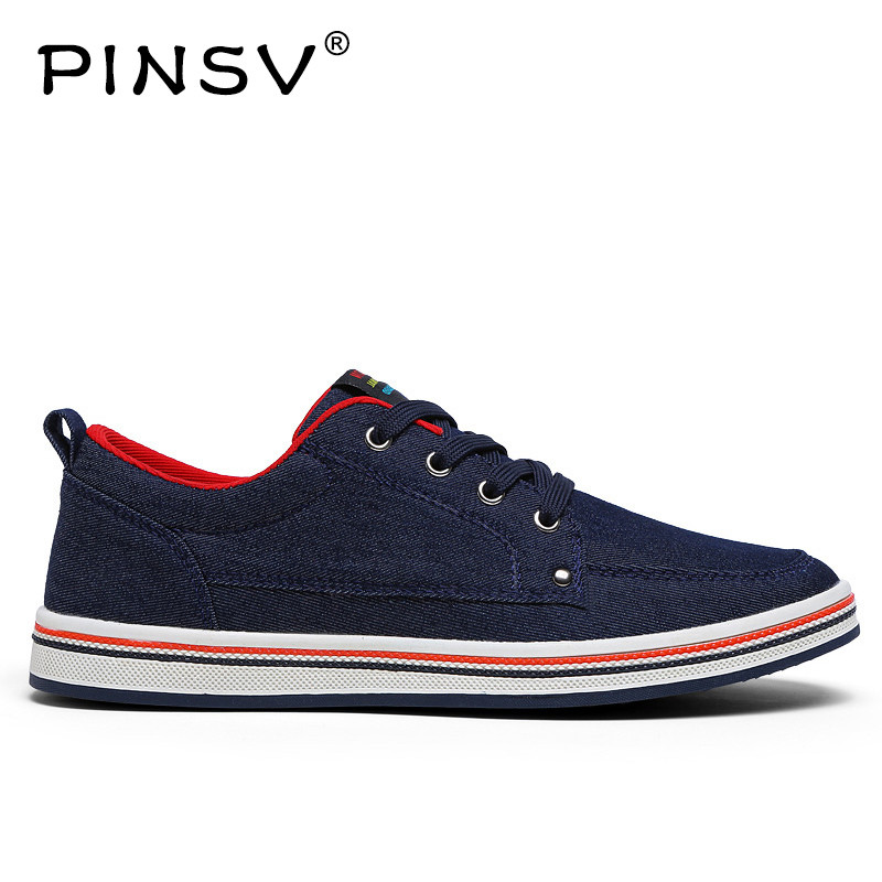 PINSV Canvas Shoes Men Sneakers Footwear Men Shoes Casual Blue Autumn Flats Hemp Shoes Men Plus Size 39-48 ulanzi vct 288 58in photography tripod monopod unipod with fluid pan head quick release plate for iphone canon nikon dslr camera