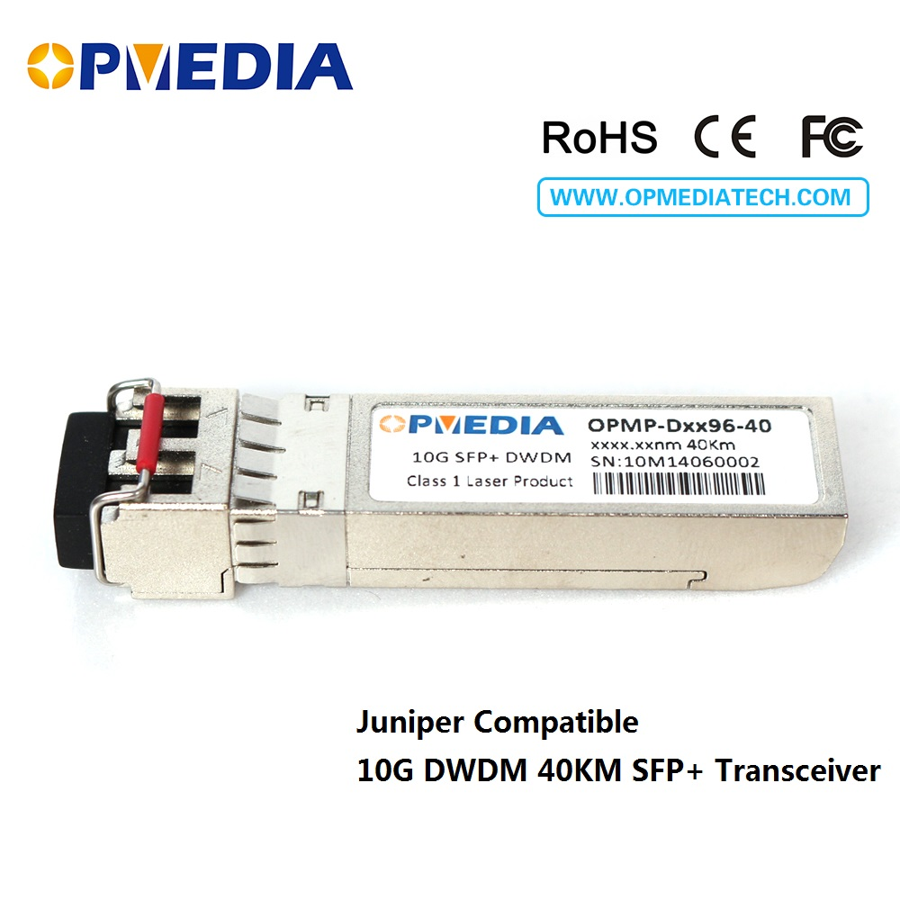 10GBASE-DWDM SFP+ transceiver, 10G 40KM C-BAND 1563.86nm~1528.77nm ER optical module,dual LC abd DDM,compatible with Juniper10GBASE-DWDM SFP+ transceiver, 10G 40KM C-BAND 1563.86nm~1528.77nm ER optical module,dual LC abd DDM,compatible with Juniper