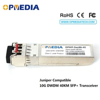 10GBASE-DWDM SFP+ transceiver  10G 40KM C-BAND 1563.86nm~1528.77nm ER optical module dual LC abd DDM compatible with Juniper