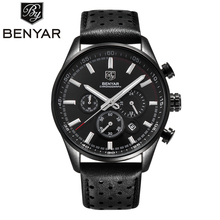 Relogio Masculino BENYAR Watches Top Brand Luxury Mens Sport Military Army Chronograph Quartz Wrist Watch Clock Men Reloj Hombre relogio masculino benyar fashion gold chronograph sport watch mens top brand luxury date quartz wrist watches clock man reloj
