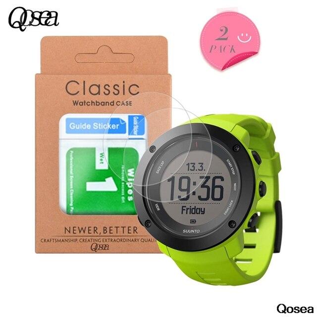 Qosea (2 шт) Закаленное стекло для Suunto Ambit3 Run защита экрана ультратонкая Взрывозащищенная 9 H упрочненная защитная пленка