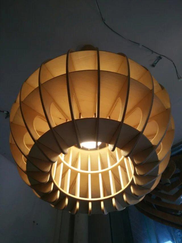 Wood Pendant Lamp Modern Chinese Japanese Nordic Creative