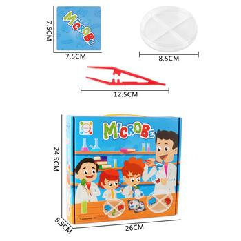 Kids Pretend Play Science Microbes Lab Experiment Education Toy Teaching Aids flashlight lab toy education series physics generator children experiment circuit teaching science projects for kids stem toys