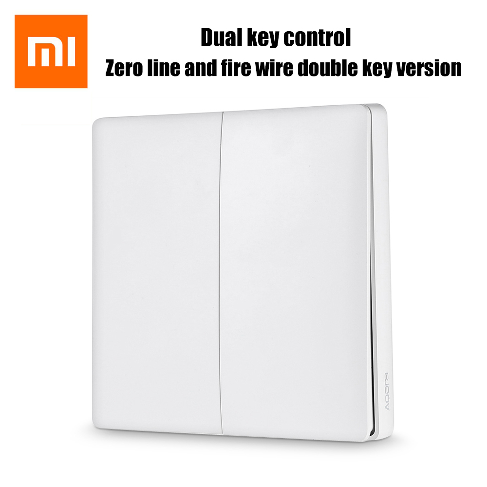 In Stock! 2017 New Xiaomi Aqara Smart Light Control ZiGBee Wireless Key and Wall Switch Via Smarphone APP Remote smart home kit цена и фото
