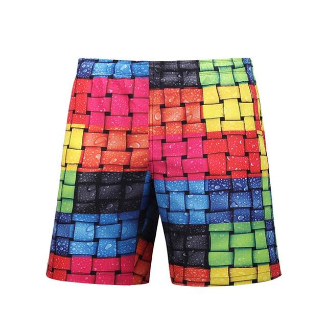 7aa11675d2c70 Novelty Men's Woven Bags Pattern Beach Pants Men 3D Printed Board Shorts M-3XL  Swim Trunks Plus Size Man Swimwear