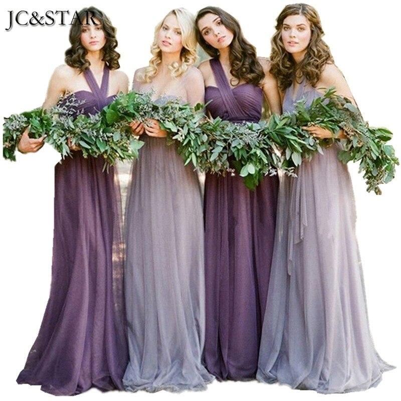 Magnífico Vestidos Largos De Dama De Honor Púrpura Barato Modelo ...