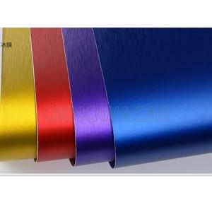 Image 2 - 10cm/20cm/30cmx152cm Car Styling Gold Metallic Brushed Aluminum Vinyl Matt Brushed Car Wrap Film Sticker Decal With Bubble