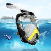Underwater Anti fog Folding Full Face Snorkeling Swimming Scuba Diving Mask