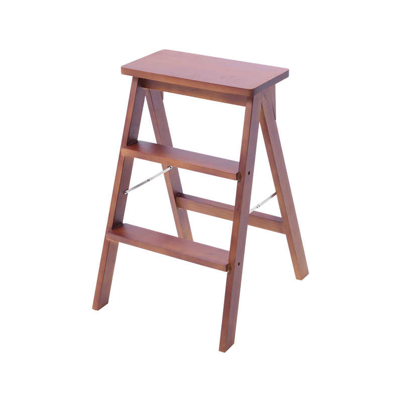 Miraculous Solid Wood Step Stool Home Three Step Folding Ladder Room Indoor Multi Function Ladder Chair Kitchen Dual Use Ascending Stair Pabps2019 Chair Design Images Pabps2019Com