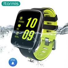 Itormis GV68 electrónica reloj inteligente A Prueba de agua Ip68 Monitor Del Ritmo cardíaco del Deporte de Natación MTK2502 Smartwatch para Android IOS W24