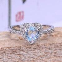 925 silver aquamarine ring real natural aquamarine silver ring