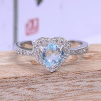 925 silver aquamarine ring real natural aquamarine silver ring