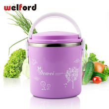 Stainless Steel Seal Insulation Dinnerware Sets Large Capacity Portable Cute Student Food Storage Box For Kids Picnic Bento Box